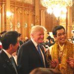 Piko Taro Makan Malam Bersama Donald Trump Dan Shinzo Abe