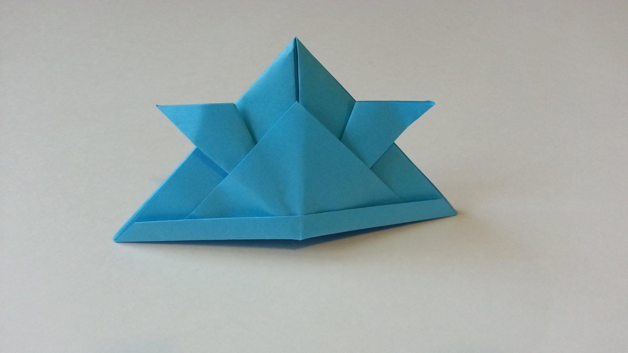 Membuat Helm Samurai Dengan Lipatan Origami