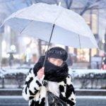 Tampil Modis Dibawah Rintikan Salju Harajuku
