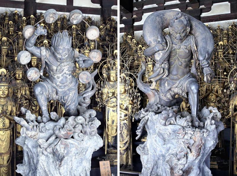 Relokasi Fujin Dewa Angin Dan Raijin Dewa Petir Sanjusangendo Pavilion Di Kyoto